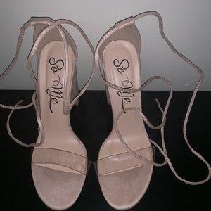 Nude/clear fashion nova heels